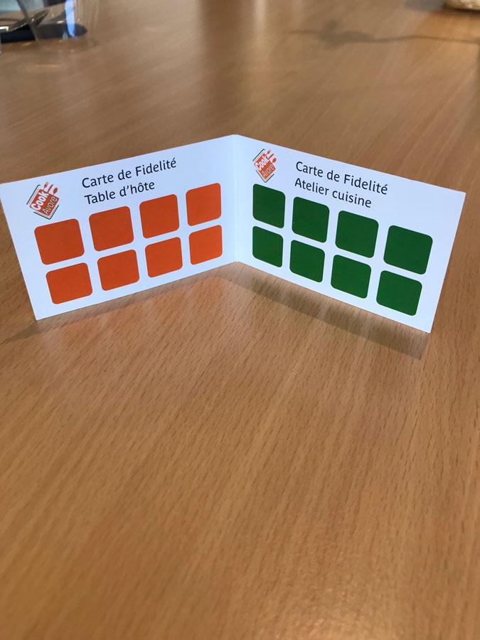 Création & impression de cartes de visites et fidélités pour notre client CookAvore
