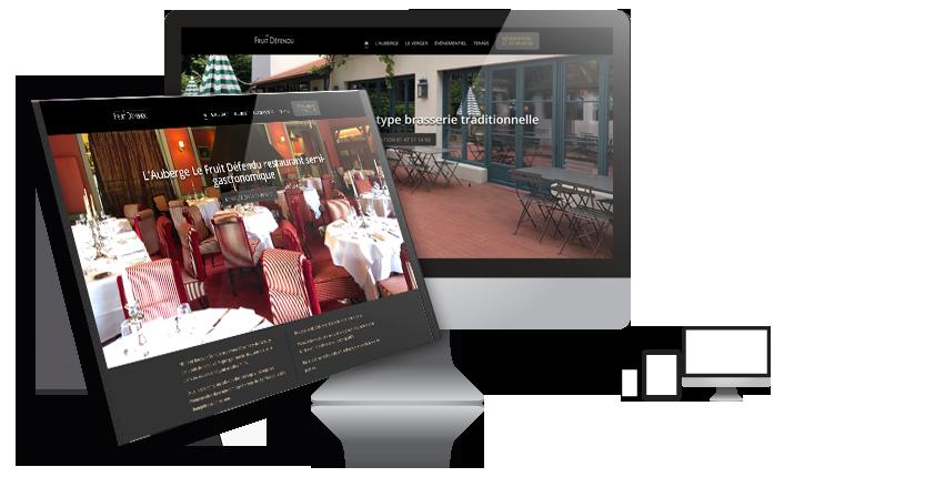 Notre dernière réalisation : Le nouveau site internet de l'Auberge Le Fruit Défendu à Rueil-Malmaison