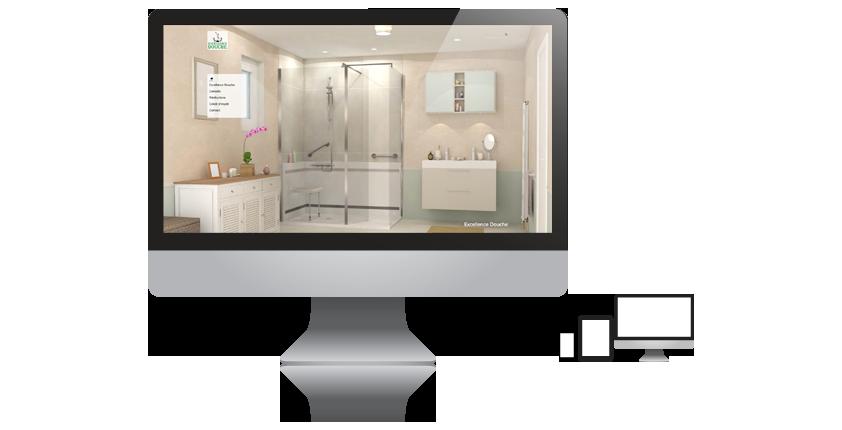 Excellence Douche, spécialiste dans la rénovation de salle de bains, notamment sur les douches séniors ou pour personne à mobilité réduite, 1, Place Paul Verlaine - 92100 BOULOGNE