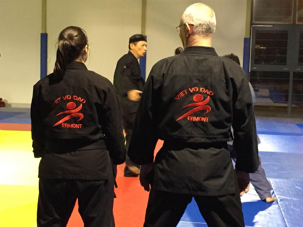 Le club AME d'Ermont nous fais confiance pour ces broderies en Coeur et dos sur Kimono d'entraînement et de compétition
