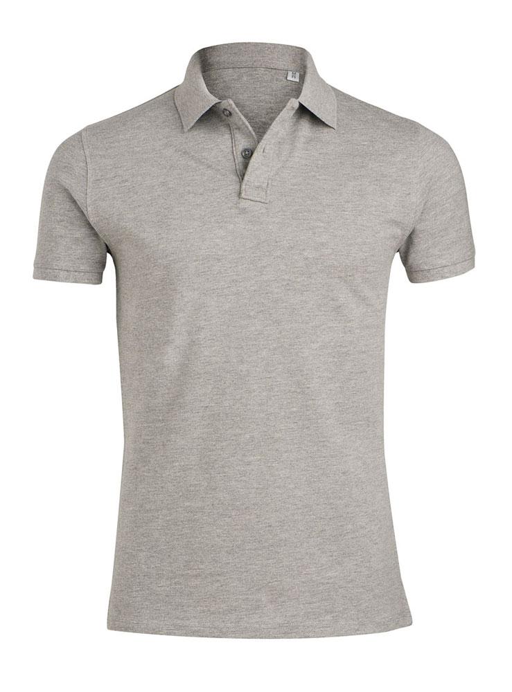 EN STOCK : Polo gris pour impression textile