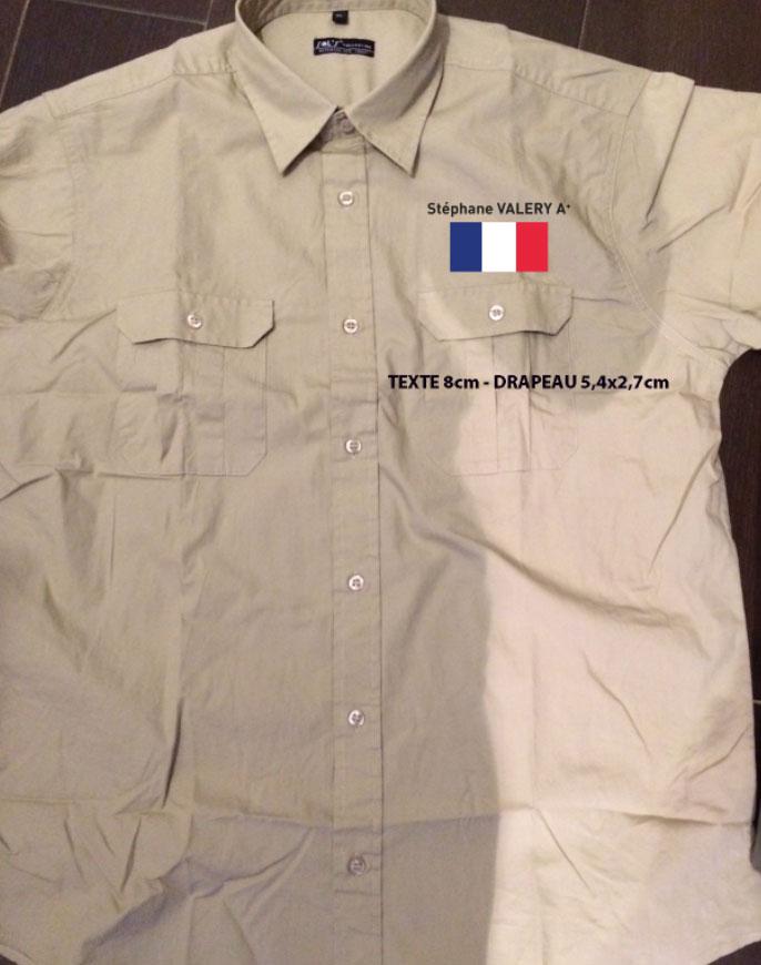 Chemises coton avec marquage en TRANSFERT SÉRIGRAPHIQUE en cœur & dos, pour équipe de RALLYE en 4x4