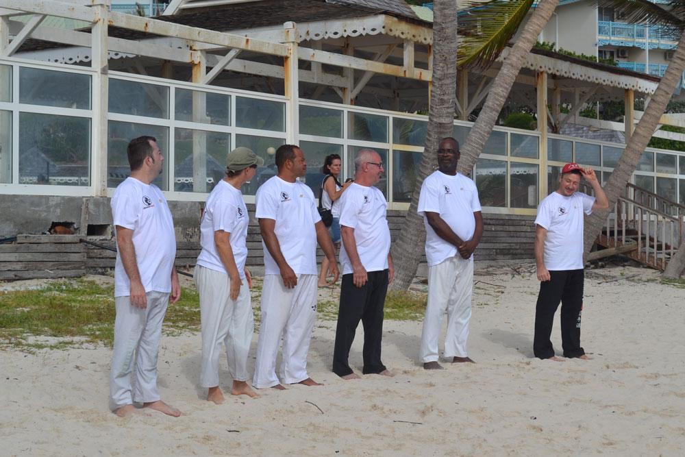 T-shirts en Impression Directe Numérique sur textile clair; club d'arts martiaux sur l'île de ST MARTIN qui nous fais confiance; sponsorisé par AB COMMUNICATION GLOBALE