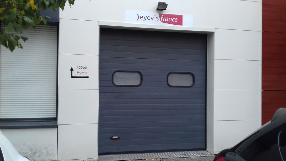 Plaque Dibon pour signalétique sur porte de garage