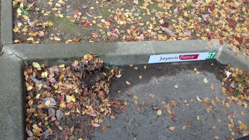 """Plaque Dibon pour signalétique """"place de parking"""""""